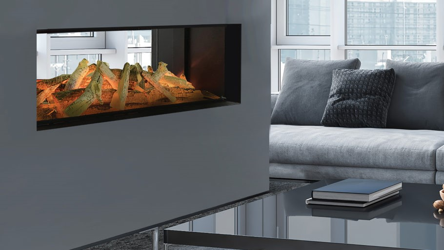 evonic lindstrom double sided electric fire